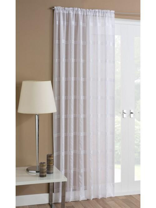 Woven Check Voile Panel White