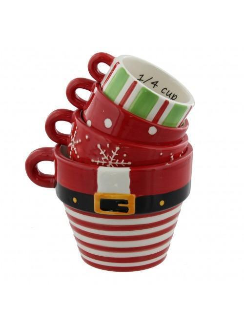 Set of 4 Santa Measuring Cups