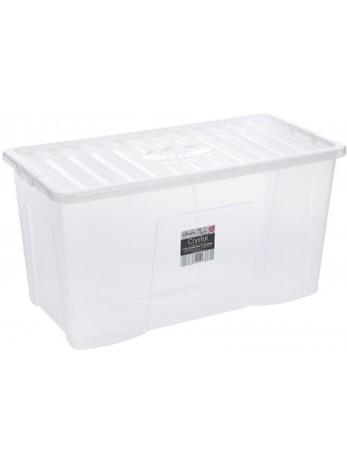 Wham® Crystal 110L Box & Lid x3 Clear