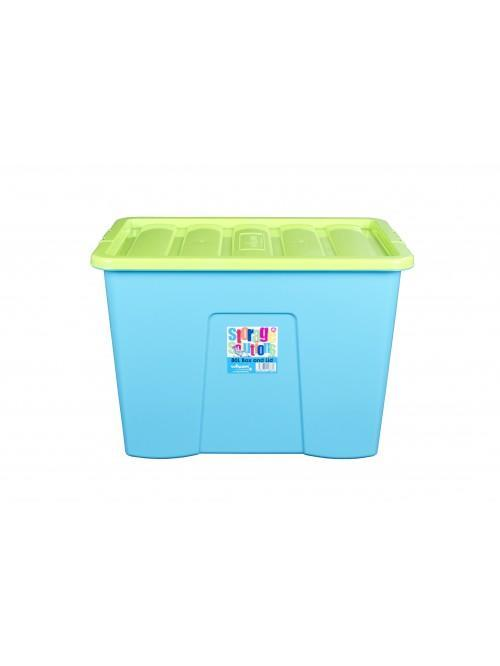 Wham® 80L Box & Lid x3 Lime