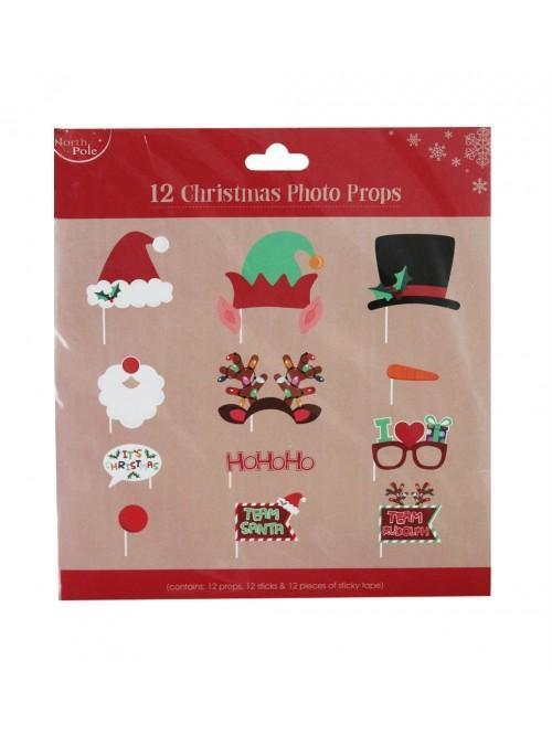 12 Pc Christmas Photo Props