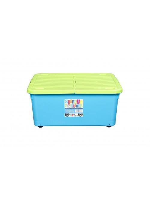 Wham® 30L Box with Wheels & Folding Lid x3 Lime