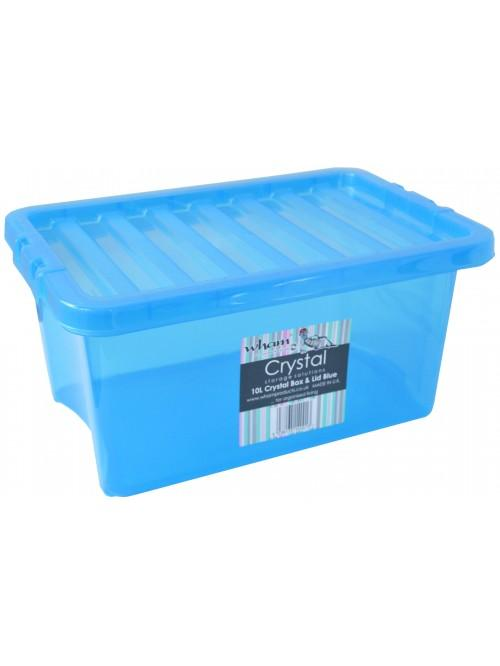Wham® Crystal 10L Box & Lid x5 Blue
