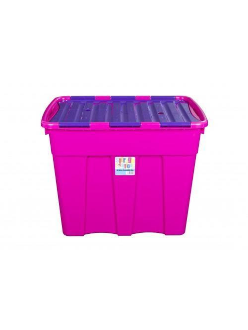Wham® 80L Croc Box & Lid x3 Purple