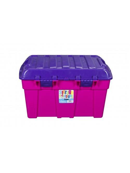 Wham® 48L Storage Trunk x3 Purple