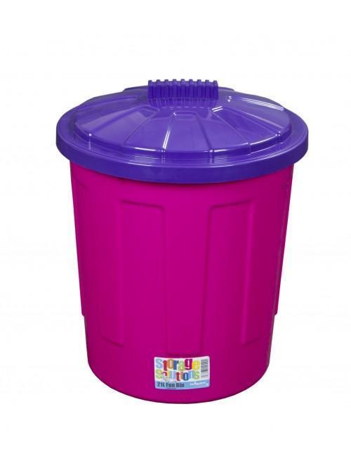 Wham® 21L Fun Bin & Lid x5 Purple