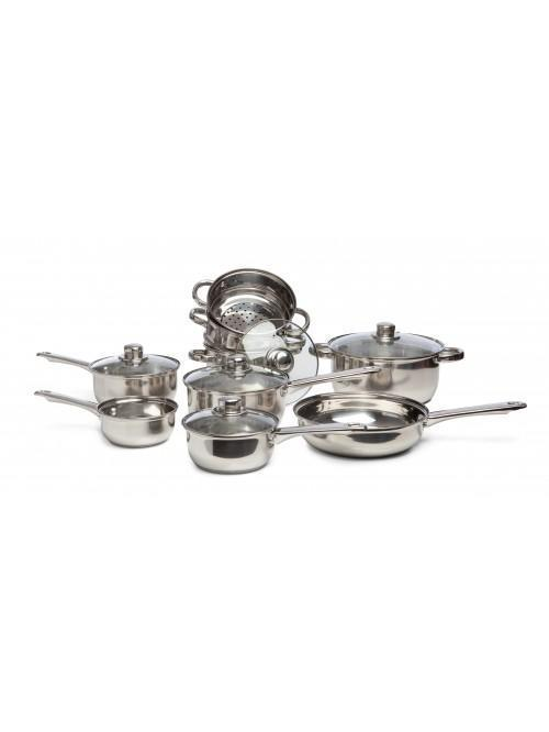 9 Piece Essential Stainless Steel Cookware Set