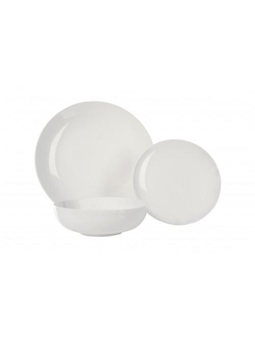 12 Piece Luna Dinner Set White