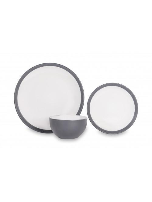 12 Piece Noah Dinner Set Slate Grey