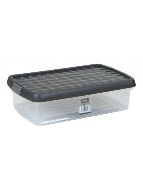 Wham® Clip 7L Box & Lid x4 Clear