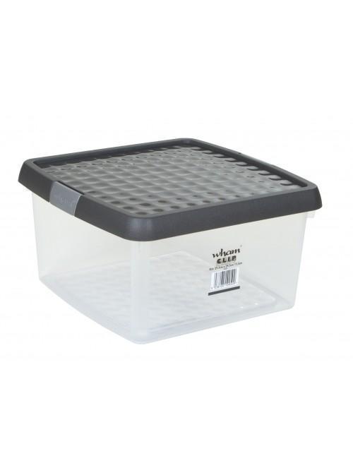 Wham® Clip 9L Box & Lid x3 Clear