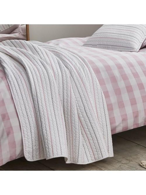 Little Bianca Folk Cotton Bedspread Pink