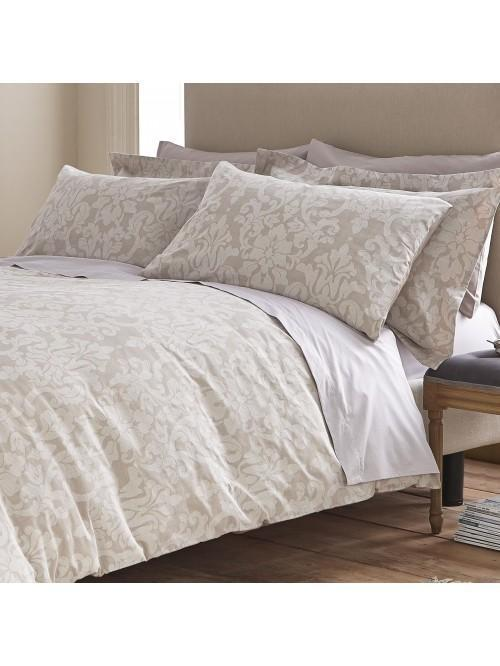 Bianca Cotton Soft Textured Cotton Jacquard Bedding Collection Natural