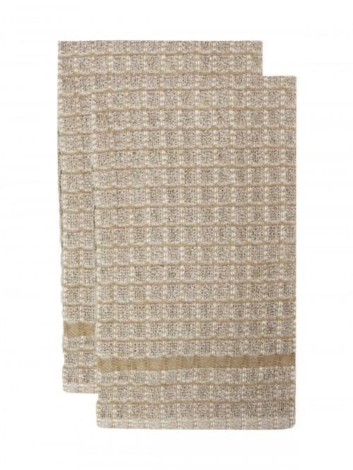 2 Pack Chambray Tea Towels Natural