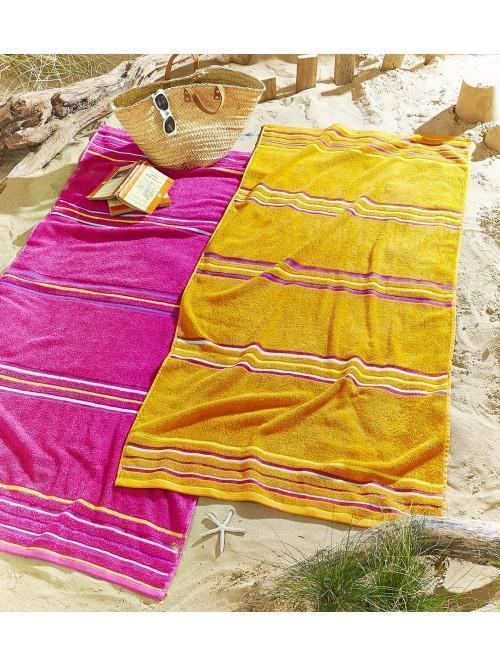 Catherine Lansfield Rainbow Pair Beach Towels Pink