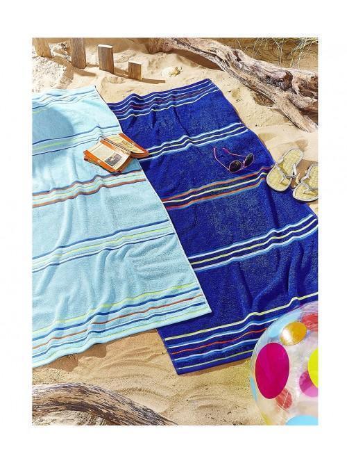 Catherine Lansfield Rainbow Pair Beach Towels Blue