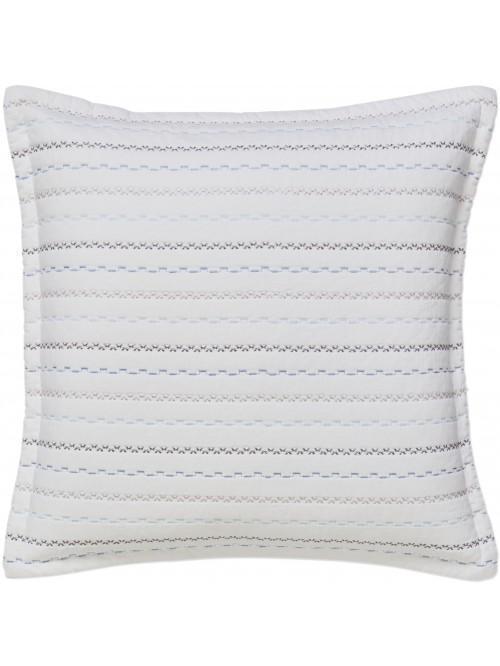 Little Bianca Folk Cotton Cushion Cover Blue