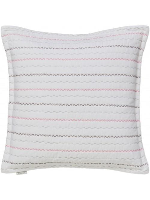 Little Bianca Folk Cotton Cushion Cover Pink