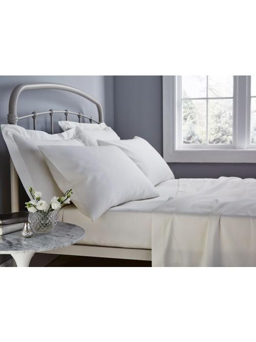 Catherine Lansfield 500TC Cotton Rich Bed Linen Cream