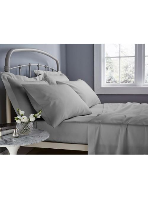 Catherine Lansfield 500TC Cotton Rich Bed Linen Grey