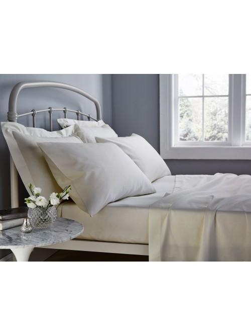 Catherine Lansfield 500TC Cotton Rich Bed Linen Natural