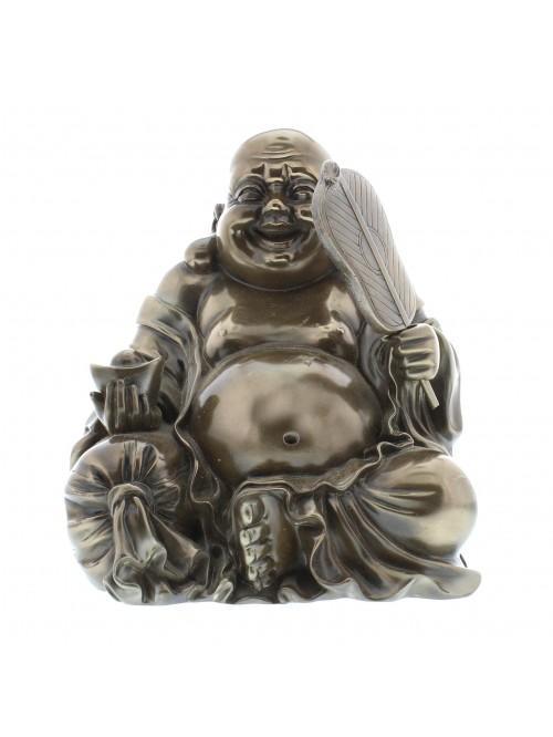 Polished Bronze sitting buddha Figurine - Medium size