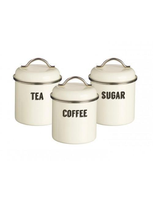 Typhoon Retro 3 Piece Storage Set Cream