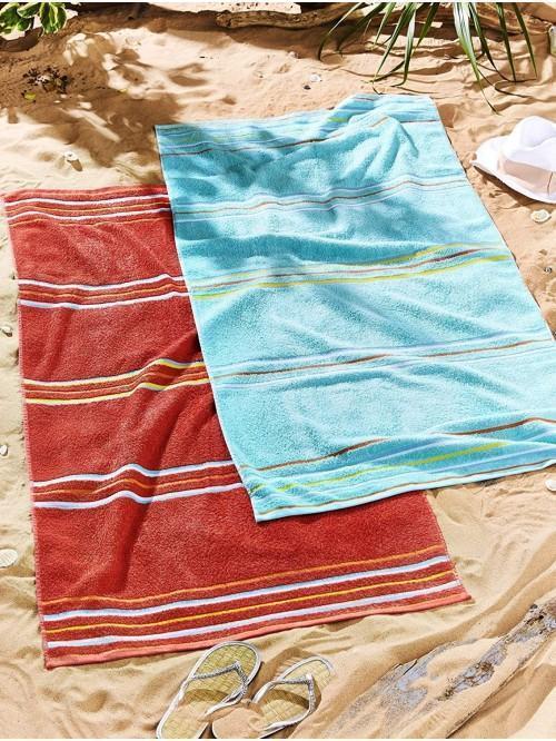 Catherine Lansfield Rainbow Pair Beach Towel Multi