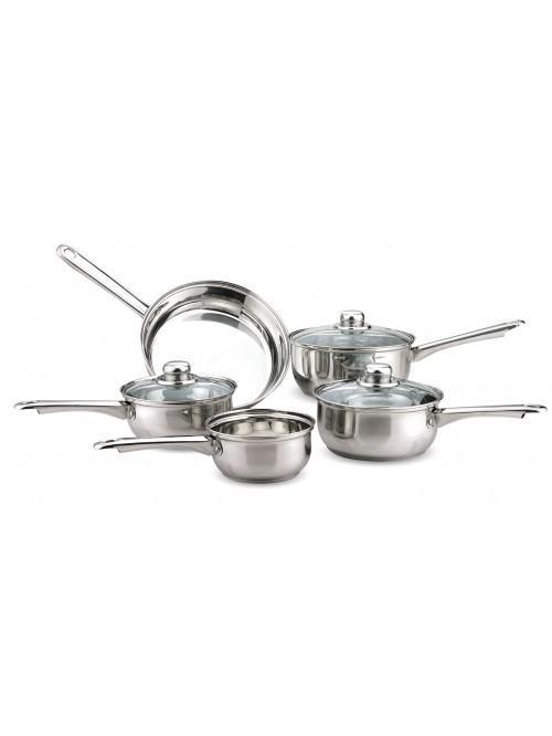 5 Piece Essential Stainless Steel Pan Set
