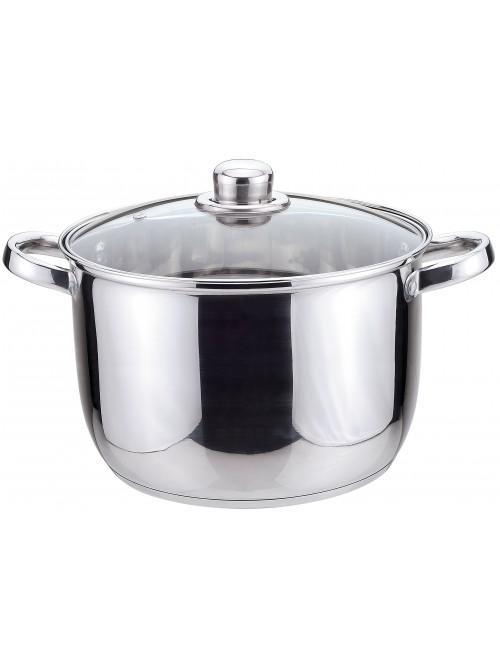 Essentials Stainless Steel 24cm Stock Pot