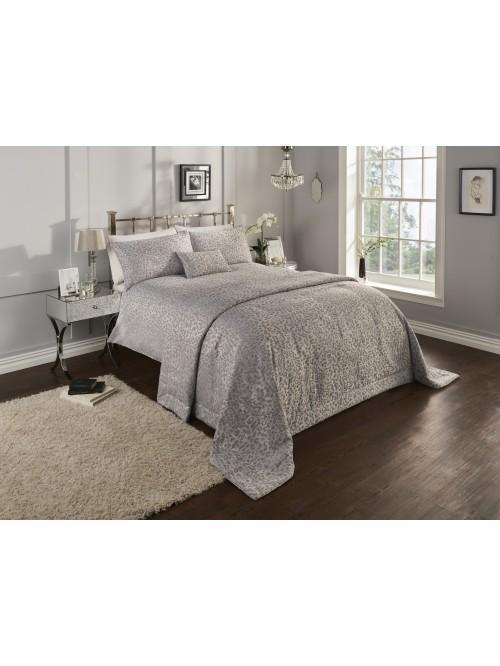 Alexis Jacquard Bedding Collection Silver