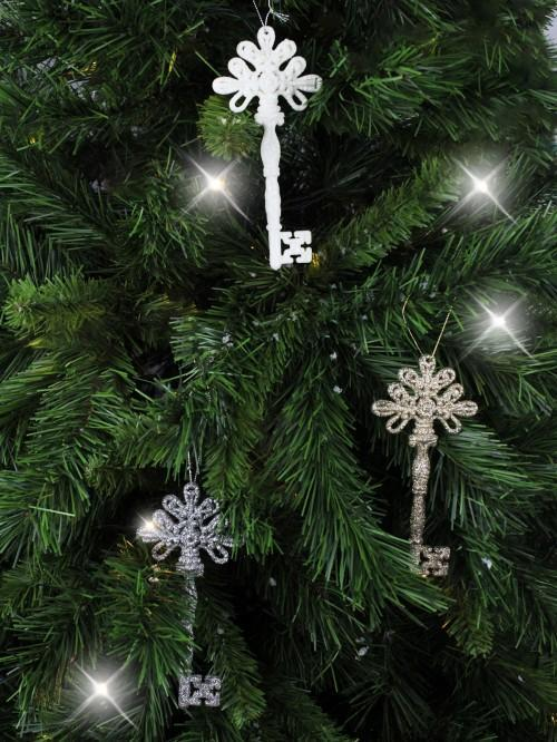 Glitter Key Tree Hanging Decoration