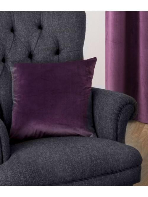 Allure Matt Velvet Cushion Plum