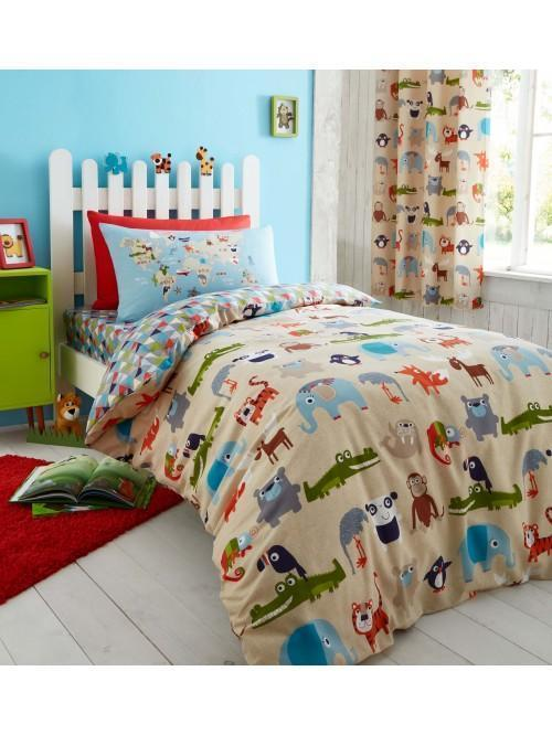 Catherine Lansfield Animal Kingdom Bedding Collection Multi