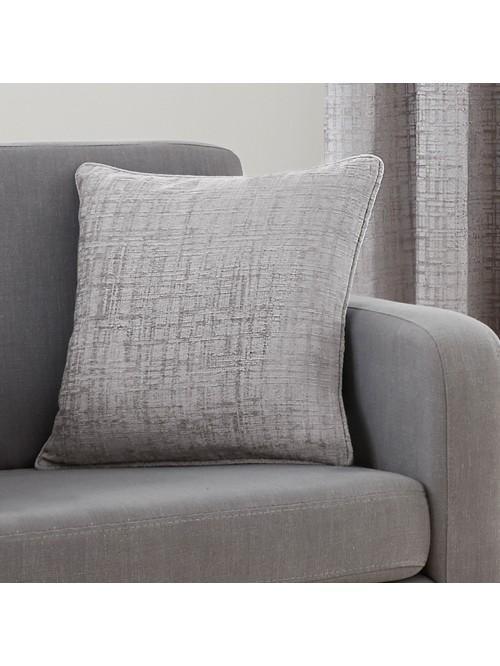 Ascot Chenille Cushion Grey