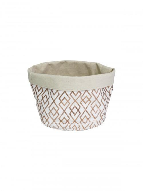 Geo Metallic Storage Basket Gold