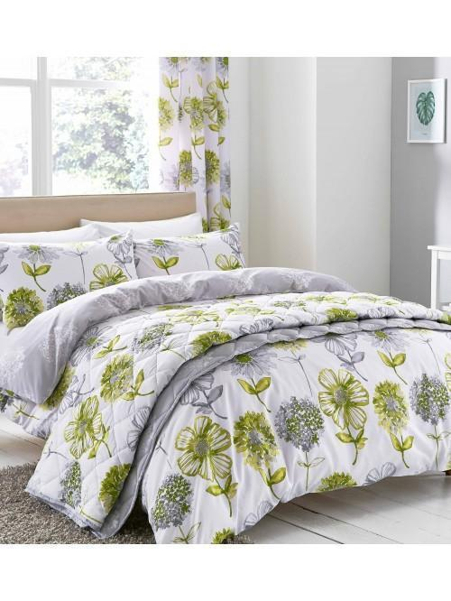 Catherine Lansfield Banbury Floral Bedding Collection Green