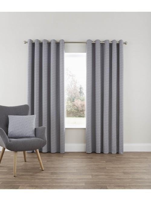 Bayliss Eyelet Curtains Grey