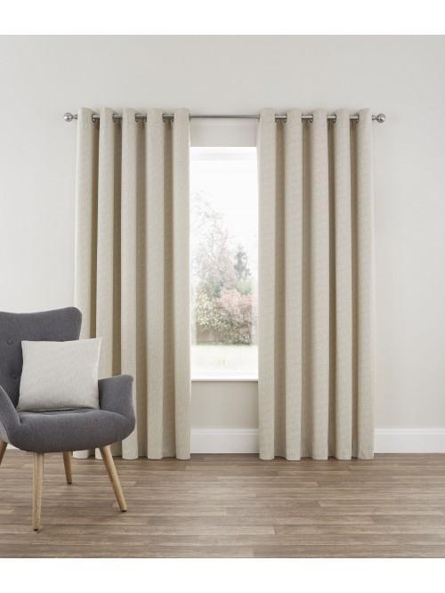 Bayliss Eyelet Curtains Natural