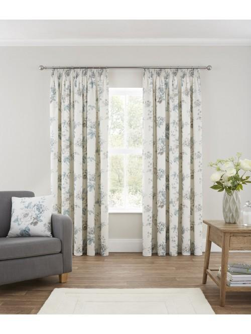 Beresford Pencil Pleat Curtains Duck Egg