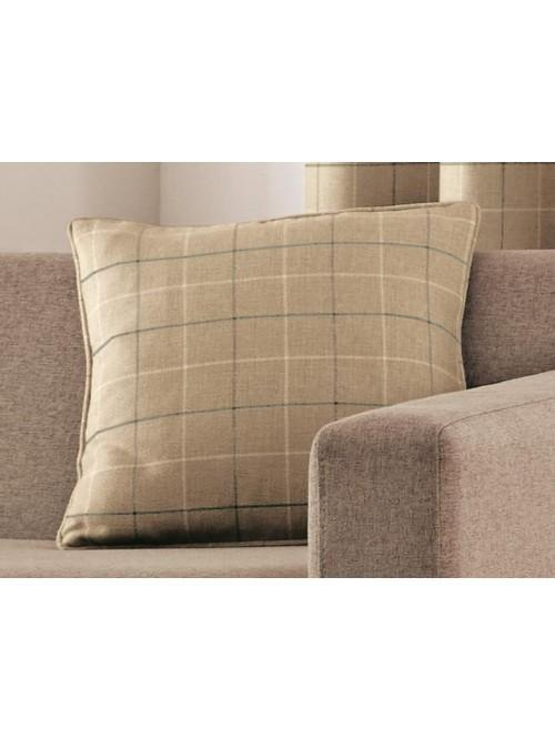 Curtina Braemar Check Cushion Natural