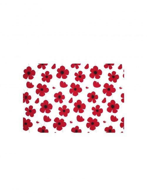 Bright Poppy  Printed Fabric Placemat