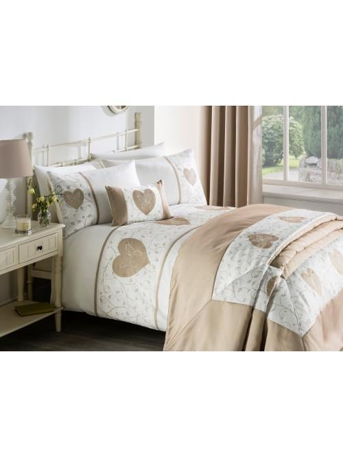 Butterfly Heart Applique Bedding Collection Natural