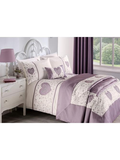 Butterfly Heart Applique Bedding Collection Heather