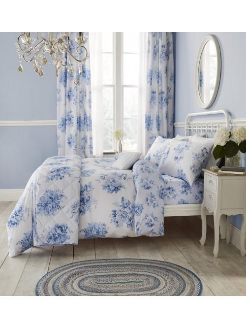 Catherine Lansfield Canterbury Floral Bedding Collection Blue