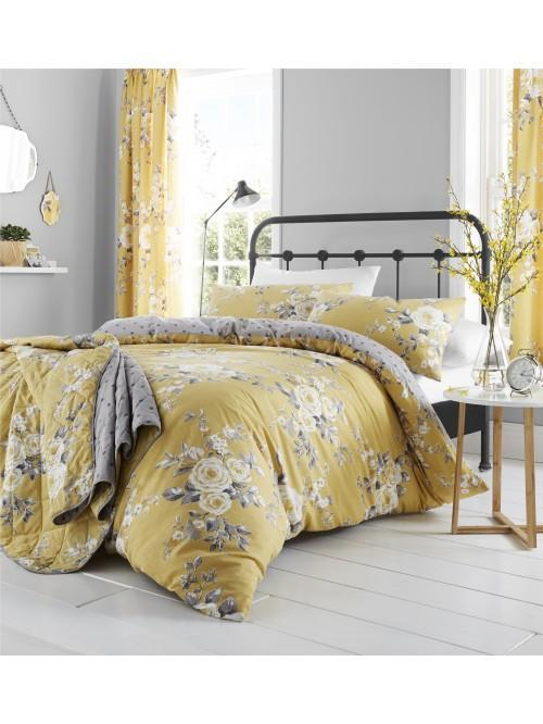 Catherine Lansfield Canterbury Bedding Collection Ochre
