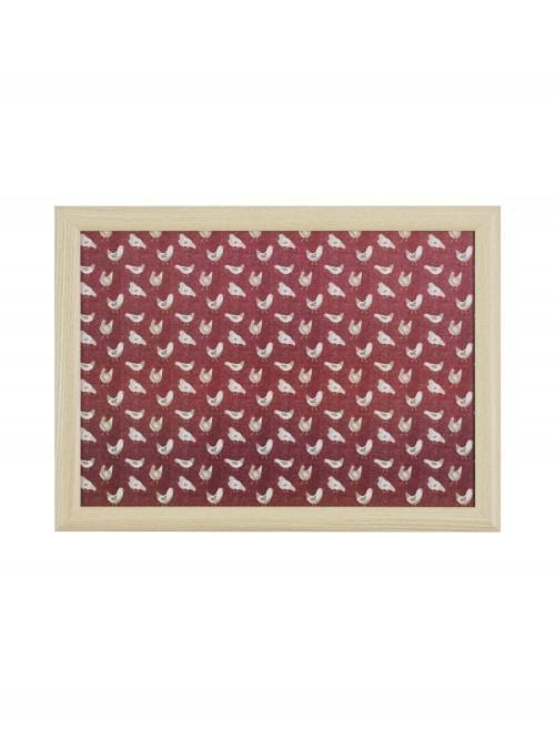 Farmhouse Chicken Lap Tray Red