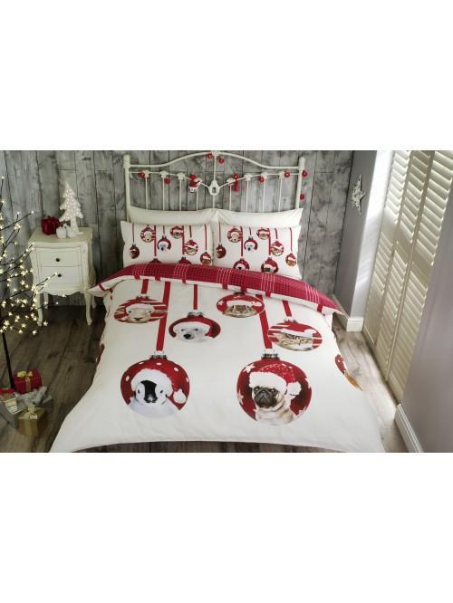 Christmas Baubles Duvet Set