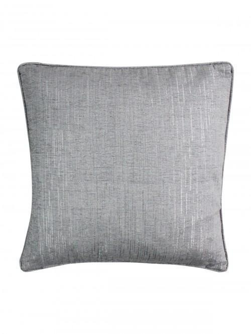 Large Corsica Feather Filled Cushion Silver