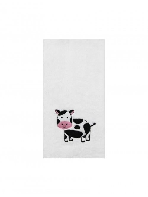 Embroidered Cow Hand Towel